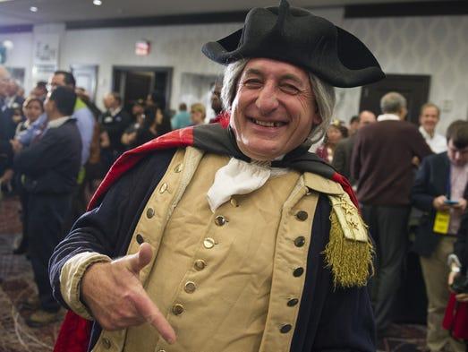 George Washington impersonator James Renwick Manship