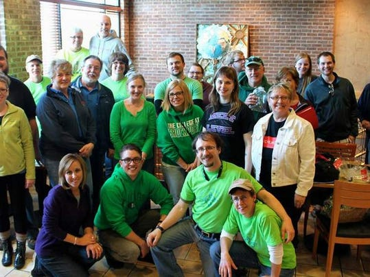 Participants in the FreeChurch.net Cache Dash, which raised money for the Penfield Ecumenical Food Shelf. Photo by Cassie Hooker.