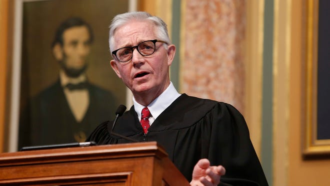 Iowa Supreme Court Chief Justice Mark Cady is one of three justices up for retention votes in November.