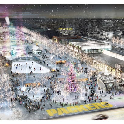 An artist's conceptual rendering shows a winter scene
