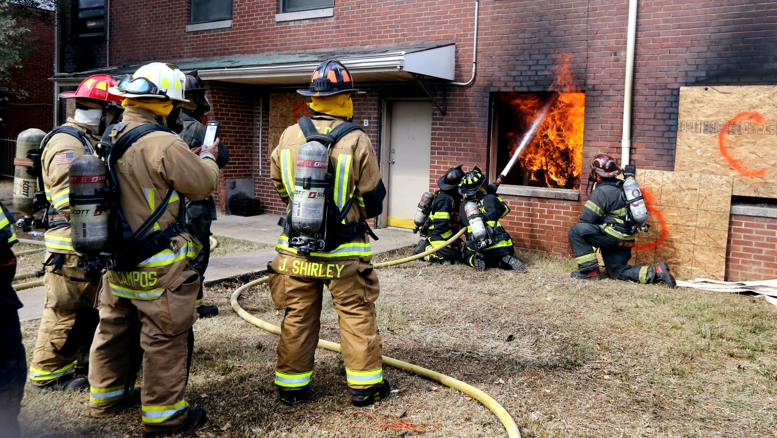 firefighter training at former franklin heights complex