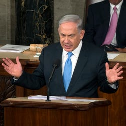 Israeli Prime Minister Benjamin Netanyahu delivers speech Tuesday to a joint session of Congress.