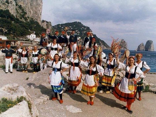 Scialapopolo folkloric group from Capri will perform at the Italian Festival this weekend in Seaside Heights.