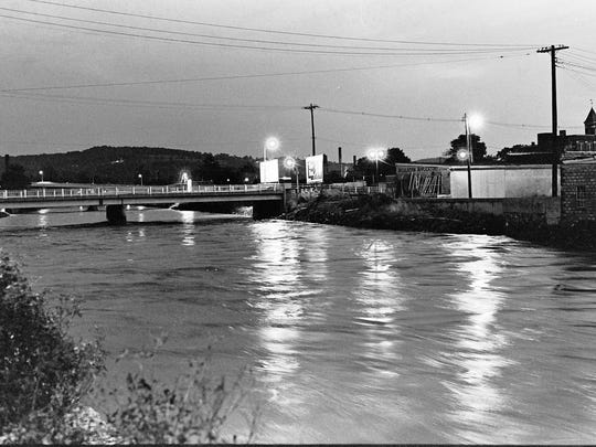 James Abram took this photo of the Codorus Creek. Abram was a student at York College of Pennsylvania when Tropical Storm Agnes hit in June 1972. He recently donated his photos of the devastation to the college.