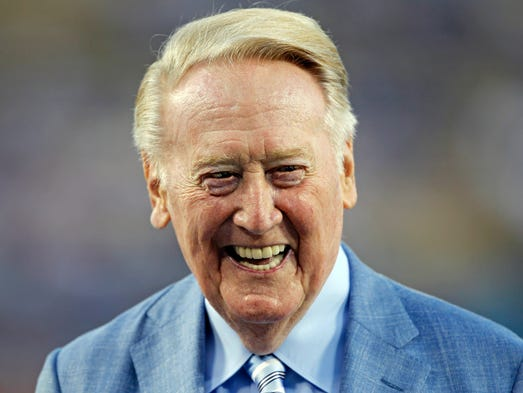 Hall of Fame broadcaster Vin Scully, 88, has embarked