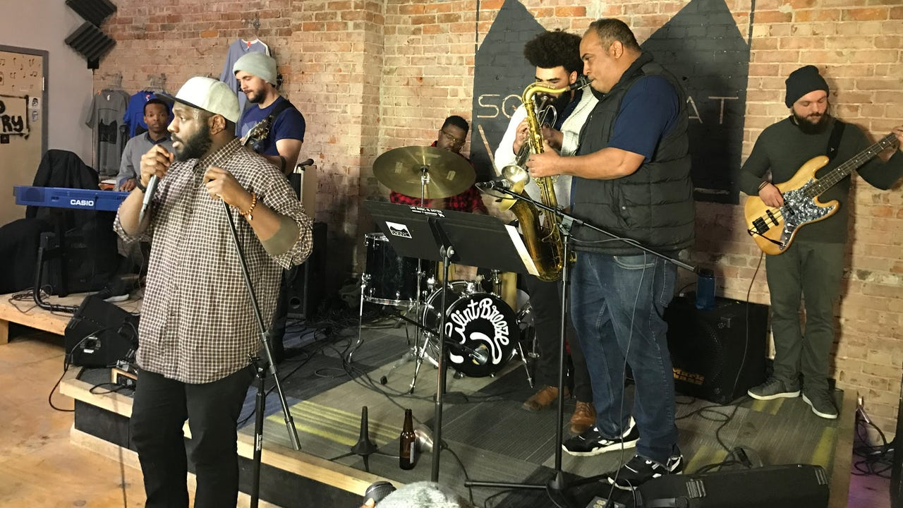 """Clint Breeze & the Groove perform """"The Bounce"""" Jan. 15, 2018, on the debut episode of """"Dogfish Head Brewery presents IndyStar Sessions at Square Cat Vinyl."""" The show's second episode will star Cyrus Youngman & the Kingfishers at 6 p.m. Jan. 23."""