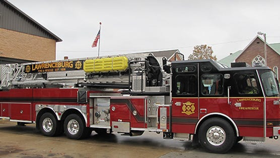 Lawrenceburg Fire Department truck