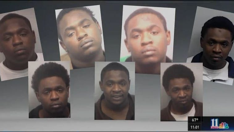 Just some of the mugshots of Demarius Thompson