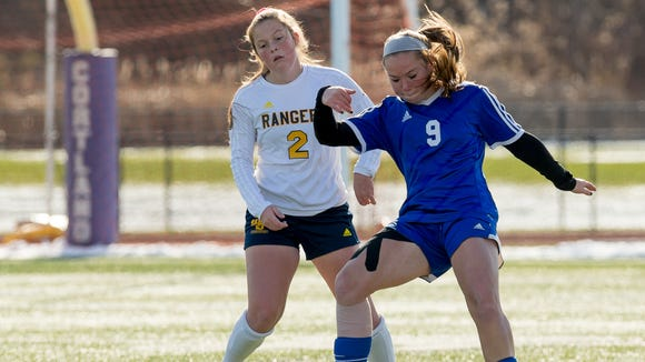 Pearl River and Spencerport ended in a 2-2 tie after 30 minutes of overtime Sunday in the Girls Class A Soccer State Final in Cortland.