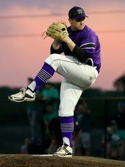 Abilene Wylie's Blake Smith pitches against Iowa Park