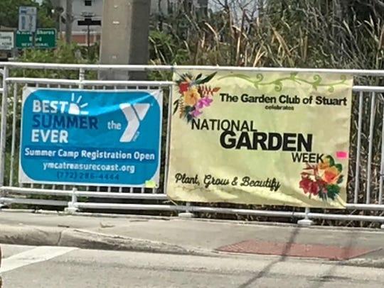The Stuart Garden Club placed a National Garden Week