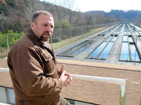 Jon Casey, project director at the hatchery, talks last year about deferred maintenance at the Norfork National Fish Hatchery.