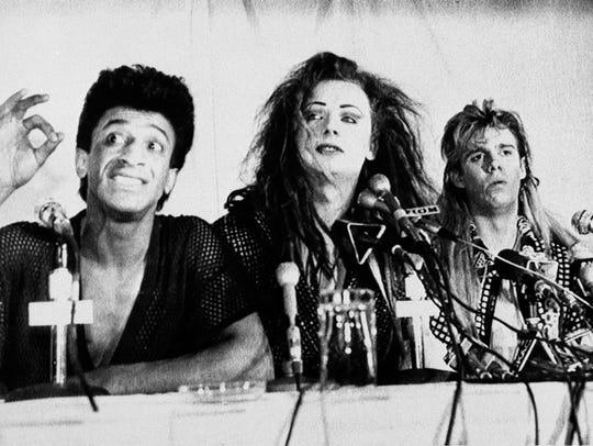 Culture Club members Mikey Craig, left, Boy George,