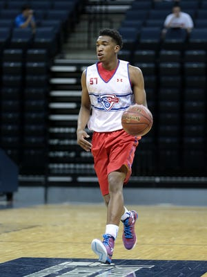Malik Monk at the NBA Players Association Top 100 Camp at the University of Virginia.