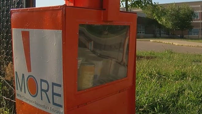 A People's Pantry box near Chase Elementary school in Northside.