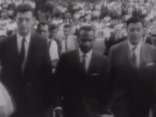 The 1962 enrollment of black student James Meredith at Ole Miss led to a deadly riot on the Oxford campus.