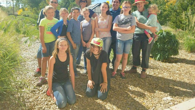 Kiwanis and some students helped out at the Volunteer Center on Satrurday.