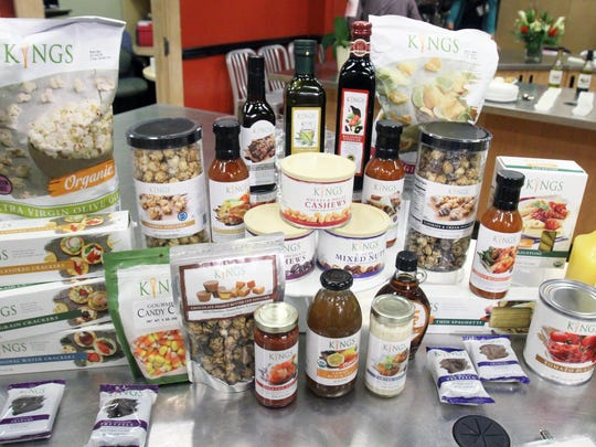 The new 'Kings Own' brand featured cook Maral Banks showcasing a variety of appetizers and desserts and leading a demonstration of a main dish, using signature products from the new line at King's Food Market in Short Hills store on Tuesday September 1, 2015