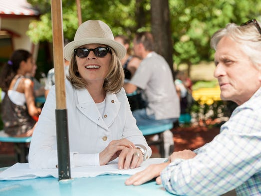 """Michael Douglas and Diane Keaton finally share the screen in <em>And So It Goes</em>. """"Look how beautiful you look,"""" Douglas says to Keaton. She cringes a little. """"Thank you very much. I'll give you a knuckle sandwich,"""" she replies.<br /> <br /> Click ahead to see Keaton and Douglas' comments on milestones in their careers and lives."""