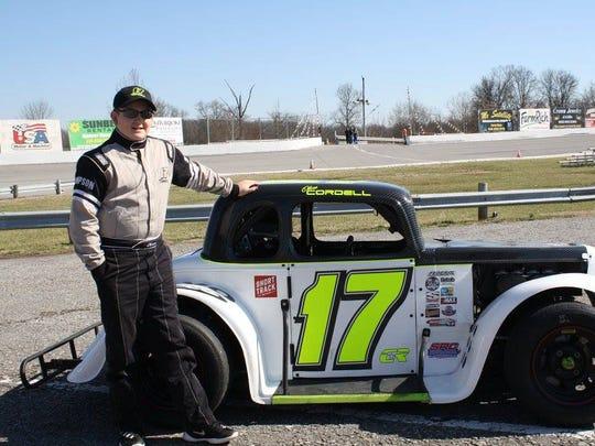 Twelve-year-old Oliver Cordell will make his debut at Fairgrounds Speedway Nashville in the Legends Division.