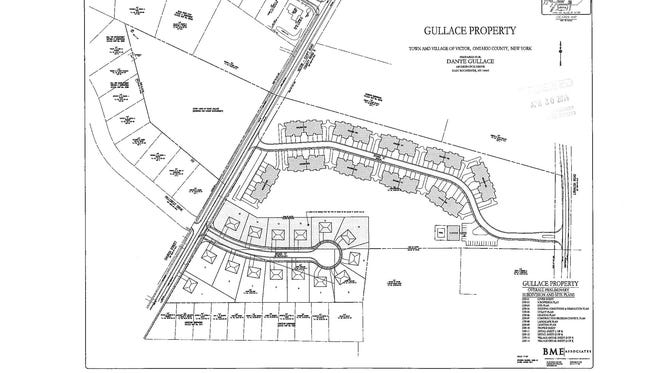 A map of the proposed development of the Gullace property.