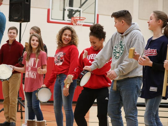 Port Clinton Middle School students got involved during