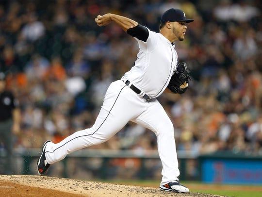 Tigers pitcher Joe Jimenez.