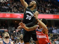 Portis leads Wizards to 135-121 win over Timberwolves