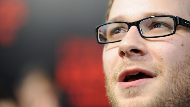 Cast member Seth Rogen arrives for the premiere of the film Pineapple Express, at the Mann Village Theatre in Los Angeles, California on July 31, 2008.