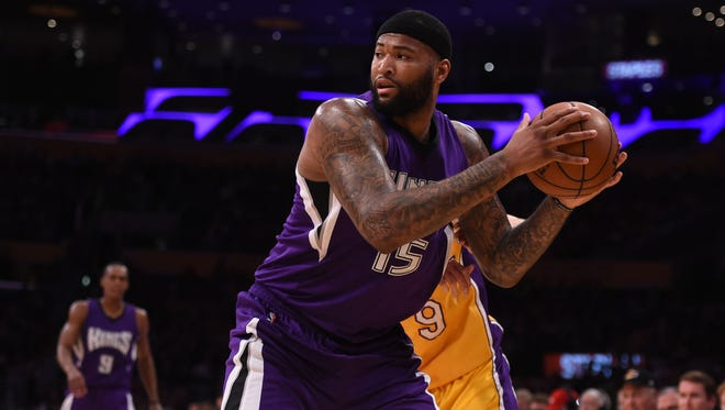 Sacramento Kings center DeMarcus Cousins (15) during an NBA game against the Los Angeles Lakers at Staples Center.