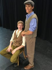 Luke Mumma, left, as Crutchie and Isaac Silver as Jack