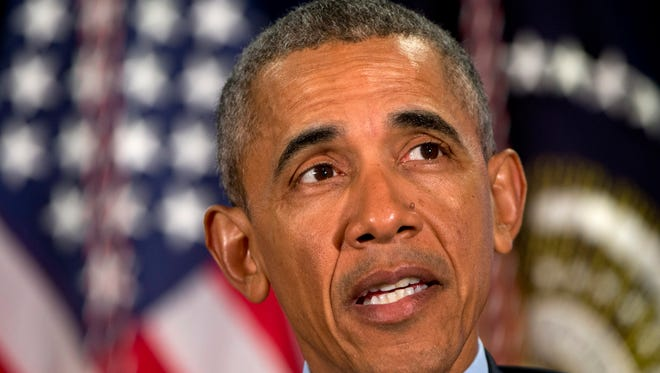 President Obama speaks at the National Rx Drug Abuse & Heroin Summit in Atlanta March 29.