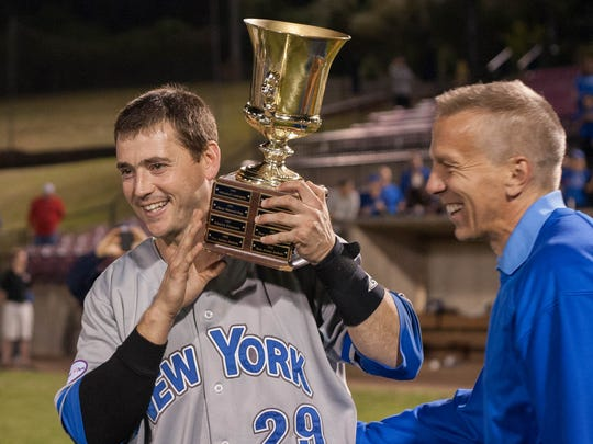 CHAMPS!!!  The Rockland Boulders defeated the New Jersey Jackals in game 6 of the CAN-AM League Playoffs and at Montclair State University in Little Falls, NJ on Sept. 8, 2014.  This was the Boulders first  league championship.