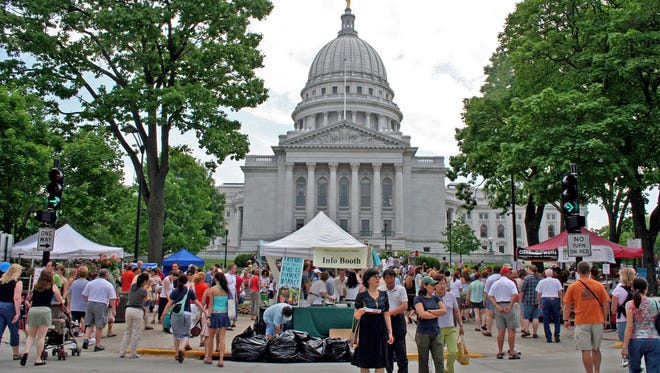 A cooperative of farmers and other ag producers operate the Dane County Farmers' Market in Madison.