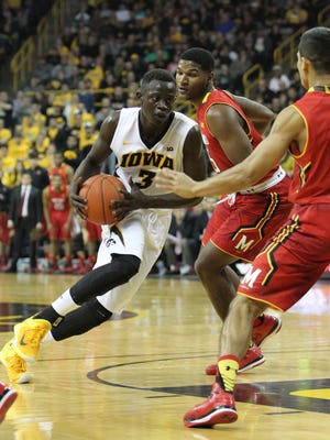 Peter Jok matched career high with 15 points in Iowa's 71-55 victory over No. 17 Maryland Sunday.