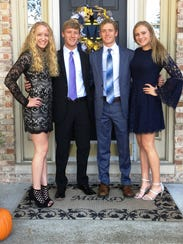The Mackay quadruplets (from left) Ellie, Brett, Austin