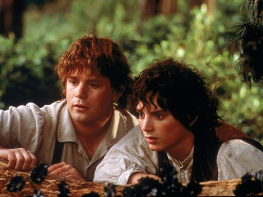 "Sean Astin, left, and Elijah Wood in a scene from ""The Lord of the Rings."