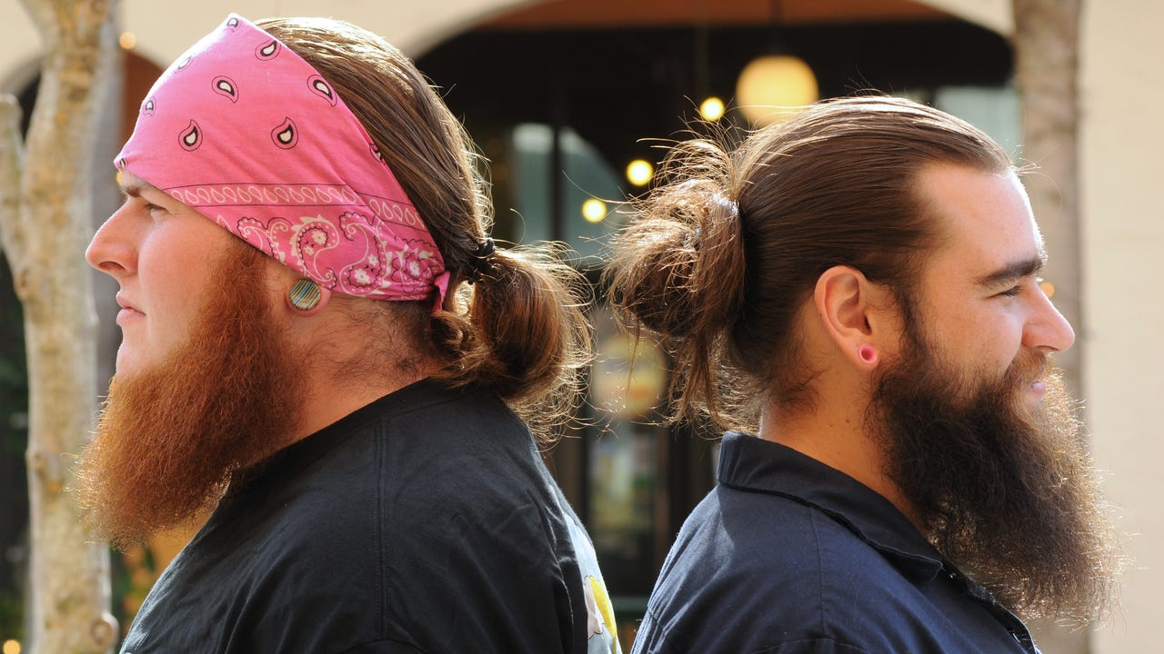"""Bartenders at Playalinda Brewery in Titusville share some funny insights on sporting the """"Man Bun"""". Video by Tim Shortt. Posted 4/13/16."""