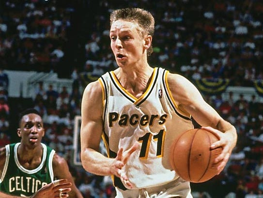 Detlef Schrempf stuffed the stat sheet for the Pacers