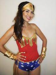 Sarena Blanco of Corona, Calif., dressed as Wonder