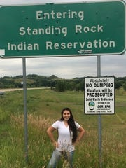 Danielle Finn in the Standing Rock Indian Reservation.