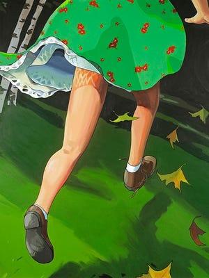 "Christopher Winter, British, b. 1968. ""The Threshold (Virgin Forest),"" 2005. Acrylic on canvas, Frances Lehman Loeb Art Center, Vassar College, gift of the artist and Mr. and Mrs. Asher B. Edelman, 2007.15"