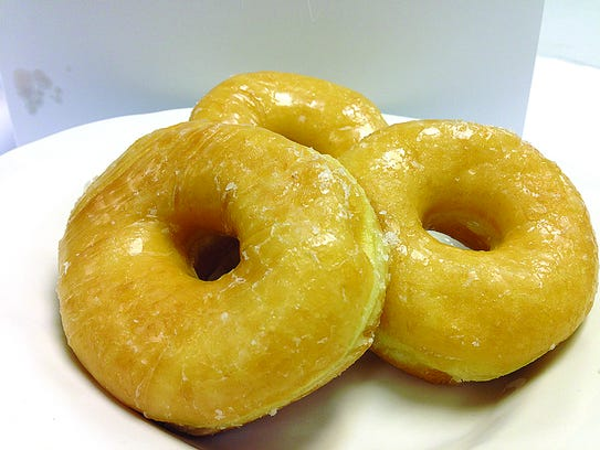 Glazed donuts from Crown Bakery.
