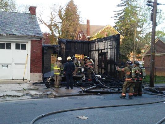 S. George St. garage fire
