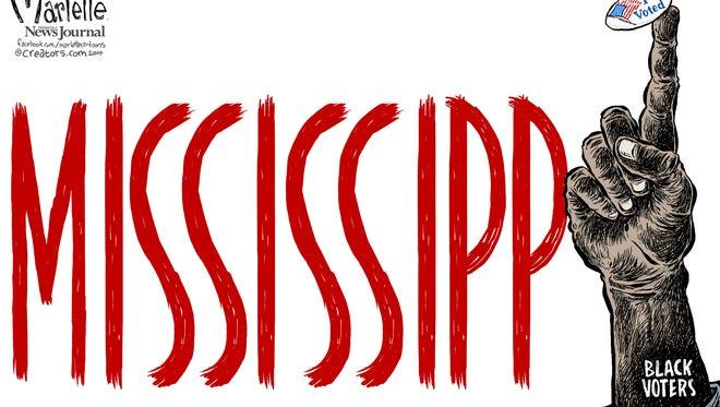 Marlette cartoon: The Mississippi vote
