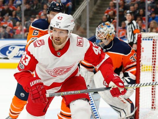 NHL: Detroit Red Wings at Edmonton Oilers