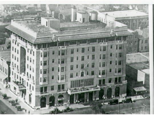 Old building of San Carlos Hotel on Palafox Street.