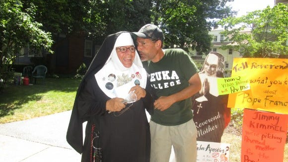 With Reverend Mother Phyl Contestable at the Park Avenue Festival