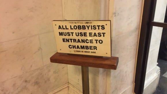 Lobbying sign