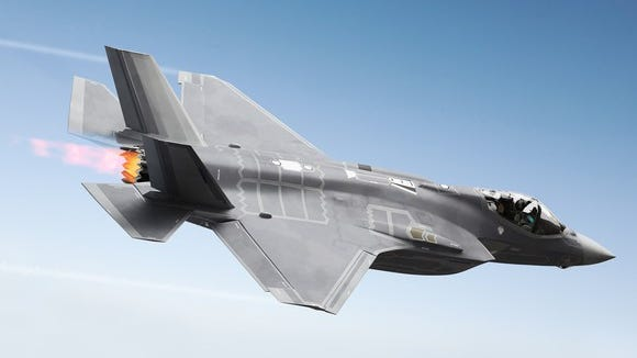 Lockheed Martin's famous F-35 stealth fighter jet.